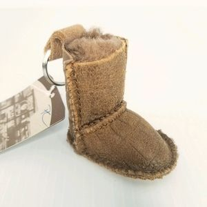 NWT UGG Mini Classic Boot Keychain Brown Tan